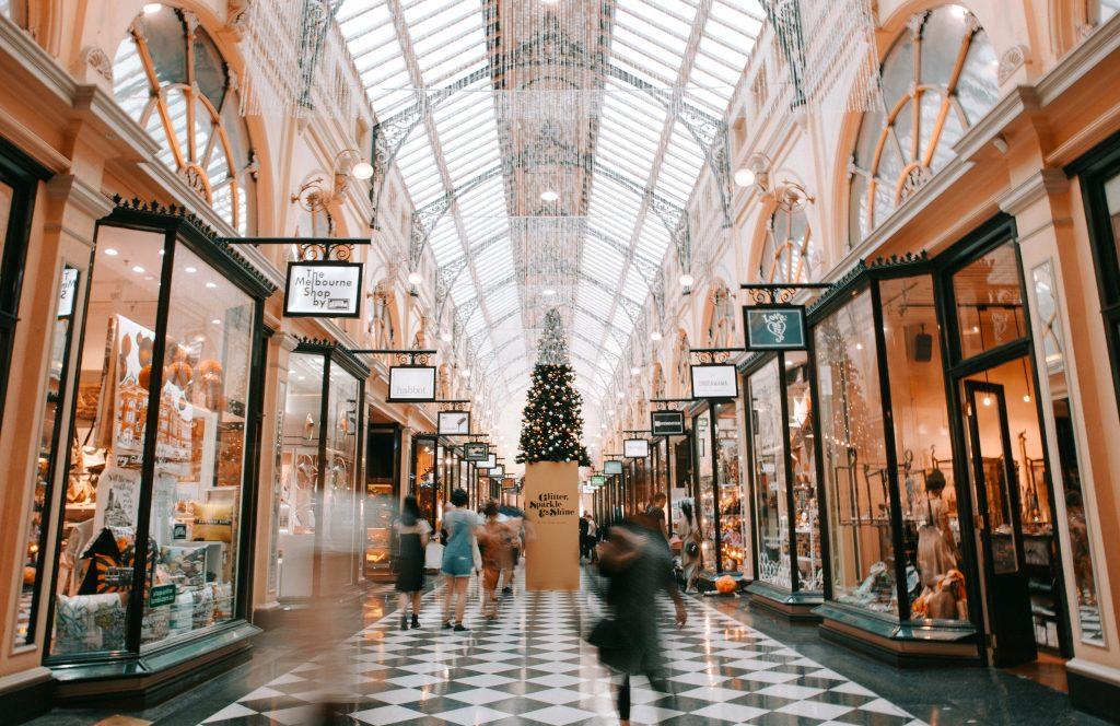 Consumidor del centro comercial